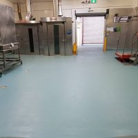 light blue flooring