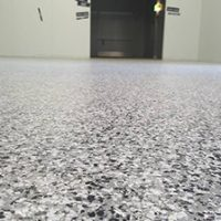 white black shiner flooring